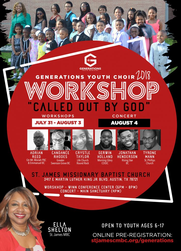 Generations Youth Choir Workshop – St  James Missionary
