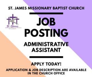 2020 Admin Job Posting - Post